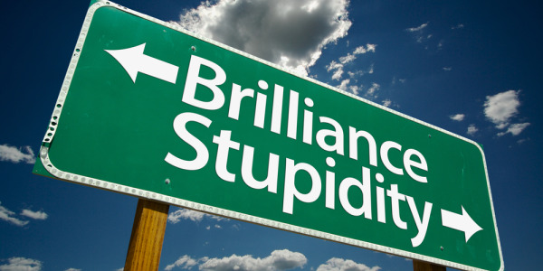 Brilliance and Stupidity