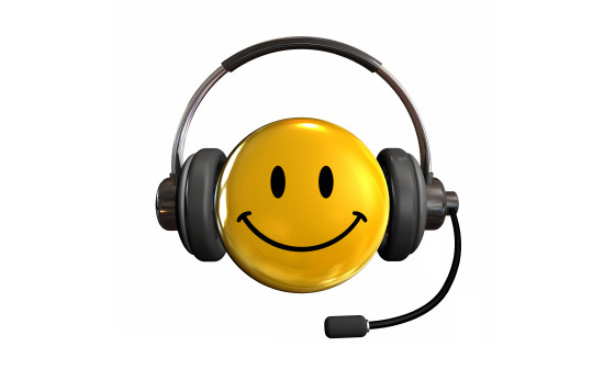 Smiley Customer Service Face Image