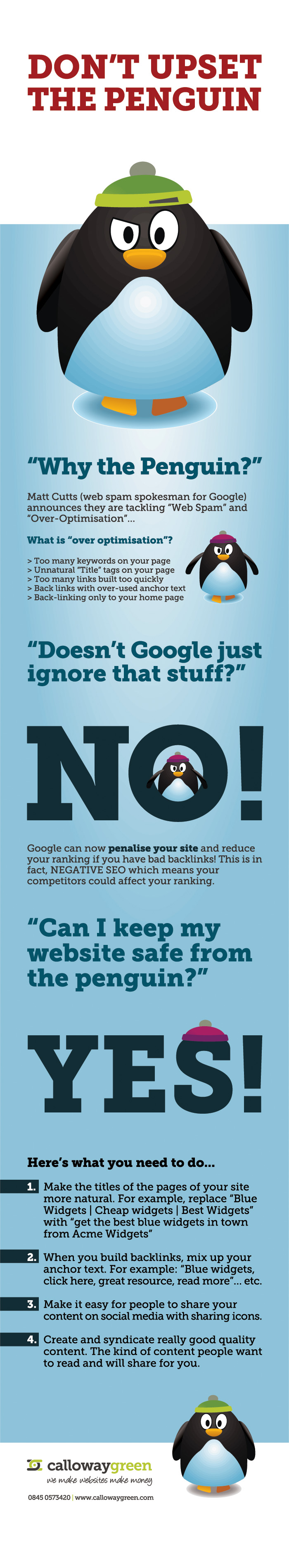 How to Make the Google Penguin Happy Infographic
