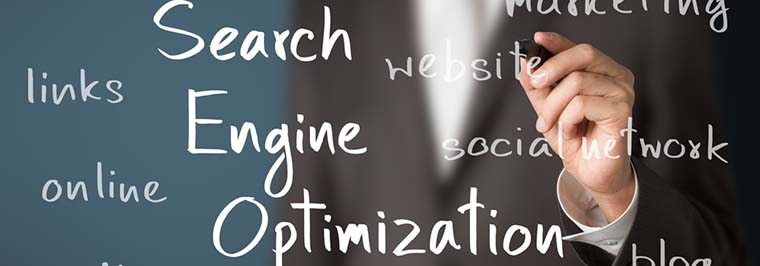 Search Engine Optimization Written on Board
